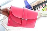 Wholesale Cheapest Women Hand Bags - Cheapest Handbag New Handbag Korean Candy Color Bangalor Xiekua Package Hand Bag Mini Small Arrow Pink