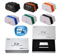 vgate icar wifi elm327 al por mayor-Original Vgate ELM327 Icar Icar2 Icar3 IV Pro OBD2 OBDII WIFI IOS Android Torque Protocolo completo Mejor calidad ePacket gratis