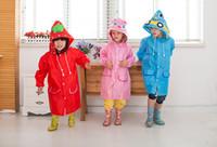 capas de chuva de animais venda por atacado-Dos desenhos animados crianças capa de chuva 5 animais de estilo em forma de crianças poncho capa de chuva capa de chuva engraçado Frete Grátis Atacado