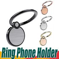 kullanılmış araba stantları toptan satış-Evrensel Parmak Yüzük Telefon Tutucu 360 Rotasyon Parmak Kavrama Için Mıknatıs Telefon Standı Halka Stent Araba Kullanarak iPhone X Için 8 7 6 Artı Opp Çanta