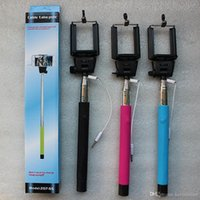 iphone штатив оптовых-Monopod Extendable Self Timer Handheld Telescopic Selfie Stick Tripod Cable Monopod с держателем для iPhone 6 5s 6plus Android Samsung