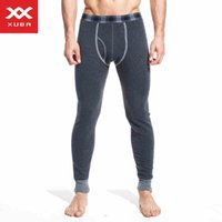 Wholesale Thick Winter Shirts For Men - Wholesale-Brand XUBA Thick Men's Long Johns Pants Winter Cotton Thermal Underwears Sports Warm Plus Velet Underpants For Man
