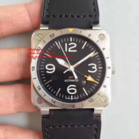 Wholesale 42mm Ceramic - 2 Color Luxury High Quality Brand Wristwatches 42mm AVIATION BR 03-92 HERITAGE CERAMIC Top CAL.9015 Movement Automatic Mens Watch Watches