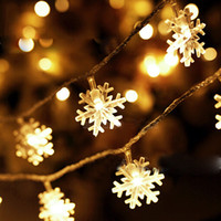Christmas Snowflake LED String Light 2.5M 20 / 5M 40LED battery models Christmas Light for Outdoor Patio Landscape Lawn