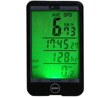 arkadan aydınlatmalı bisiklet bilgisayarı toptan satış-1-LCD Arkadan Aydınlatmalı Kablosuz Bisiklet Bisiklet Bilgisayar Dokunmatik Düğme Suya Dayanıklı Bisiklet Kilometre Kilometre Sayacı Kronometre içinde Toptan-29