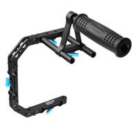 Wholesale 15mm Rod Rig Handles - FOTGA DP3000 C-Shape Bracket Cage +Top Handle Grip Support For 15mm Rod DSLR Rig