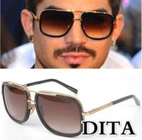 Wholesale Design Sun Glasses - 2017 New Fashion Dita Mach One Gradient Sunglasses Men Women Brand Design Sun Glasses Vintage Retro Classic Oculos De Sol Gafas with box