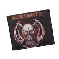 Wholesale red band clips - Heavy Metal Devil IRON MAIDEN Band Wallet Punk Rock Designer Gothic Skull Wallets Bifold Men Women Money Bag Clip Leather Wallet Wholesale