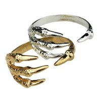 Wholesale Eagle Talons Bracelet - New Arrive Dragon Clamp Cuff Gothic Punk Rock Bird Claw Eagle Talon Bangle Bracelet