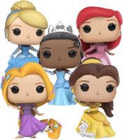 Wholesale Cinderella Belle Figure - 10cm Funko pop Official Beauty and the beast Princess: Ariel, Belle, Cinderella, Rapunzel, Tiana Vinyl Figure Collectible Model Toy gift