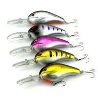 Wholesale Minnows 12cm - 12cm 21.2g Plastic Fishing Lures Bait Fishing Tackle Hard Bait Minnow Crankbaits 3D Eye Artificial Lure Bait 5 Colors per Set