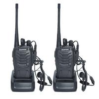 Wholesale 5w Uhf Handheld - 2 PCS Baofeng BF-888S Walkie Talkie 5W Handheld Pofung bf 888s UHF 400-470MHz 16CH Two-way Portable CB Radio