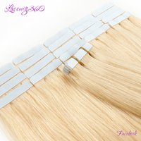 Wholesale Tape Wefts Hair Extensions - hair u wear tape in extensions 613# Light Blonde Straight Adhesive Skin Wefts 18 inch Tape In Human Hair Extensions 2g pcs 20pcs