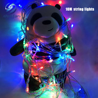 Wholesale Green Holiday Cards - Christmas light Holiday Sale Outdoor 10m 100 LED string 8 Colors choice Red green RGB Fairy Lights Waterproof Party Christmas Garden light