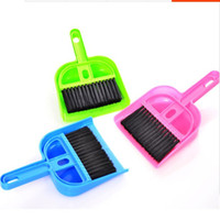 Wholesale Mini Dustpan Brush - Wholesale-2016 Multifunctional and Lovely Mini Desktop Computer Keyboard Clean Sweep Dust To Dust Small Broom Brush Set With Dustpan Shove