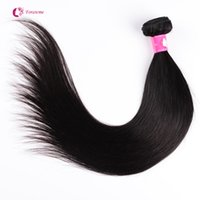 Wholesale Virgin Remy 2pcs - 1 2pcs lot Brazilian Virgin Human Hair Weaves Soft Unprocessed Peruvian Straight Hair Weft Cheap Remy Forawme Hair #1B 8-30inch