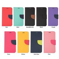 mercúrio de carteira venda por atacado-Mercury case para iphone x 8/7/6/5 plus samsung note8 galaxy s8 s7 carteira case com slots para cartões doces cores frete grátis