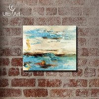 Wholesale Giclee Wall Art - Retro Abstract Painting Modern Oil Painting Vintage Wall Art Giclee Prints On Canvas Living Room Home Decoration