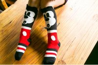 Wholesale Knitting Clothes For Babies - Mickey Knit Knee High Socks Boys Girls Baby Socks Korean Autumn Winter Socks For Kids Children Clothes Kids Sock Child Clothing