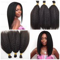 Wholesale 26 Inch Human Hair Braiding - Malaysian Kinky Straight Human Hair Bulk For Braiding Natural Black 100 Human Hair Braids Bulk 8-30inch G-EASY