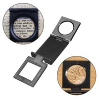 Wholesale X Mini Microscope Zinc Alloy Folding mm Magnifier Loupe with Scale for Textile Optical Foldable Magnifying Glass Lupa Tool