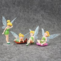Wholesale Tinkerbell Fairies Toys - 4 Styles pcs Tinkerbell Fairy Adorable Figures Toys PVC Action Figure Collectable Model Toy for kids gift free shipping EMS