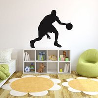 Wholesale Wall Decals Low Prices - Brand New Black All Atar Sport Basketball Player Vinyl Art DIY Decal Wall Sticker Home Decal 50X60CM Lowest Price