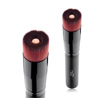 Wholesale flat top brushes - Msq Cosmetic Single Make Up Powder Foundation Brush Blush Angled Flat Top Base Liquid Cosmetic Makeup Brush Tool