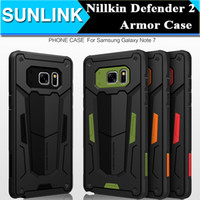 Wholesale Original Neo Hybrid - Original Nillkin Defender 2 Neo Hybrid Tough Armor Slim Case Cover for iPhone 6 6s Plus Samsung Galaxy Note 7 5 S7 Edge S6 Edge Plus
