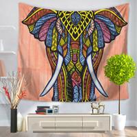 Wholesale Cheapest Beach Towels - Cheapest Folk Custom Tapestry Elephant Background Tapestry Mandala Yoga Home Cloth Beach Towel Living Room Decoration Wall decoration