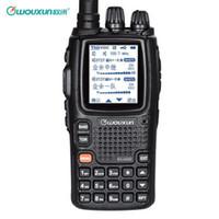 radyo vhf çift yönlü toptan satış-Ham Radyo Walkie Talkie Wouxun KG-UV9D artı Dual Band VHFUHF 136-174 MHz / 400-480 MHz 999 kanal Uzun Menzilli 2-5 mil İki Yönlü Cb Telsiz