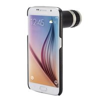 Wholesale Case S4 Zoom - Wholesale-Orbmart 8X Optical Zoom Telescope Camera Lens With Back Case Cover For Samsung Galaxy S6 Edge S6 S5 S4 S3 Note 4 3 2