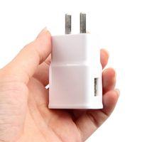 lenovo ac adaptör şarj cihazı toptan satış-Şarj Adaptörü 5 V-2A Çift USB Bağlantı Noktaları ABD Duvar ABD AC Şarj için Samsung için iPhone HTC Huawei Vivo Lenovo