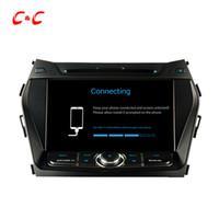 Wholesale Gps For Hyundai - Quad Core HD 1024*600 Android 5.1.1 Car DVD Play for Hyundai IX45 with GPS Navigation Radio Wifi Mirror link DVR