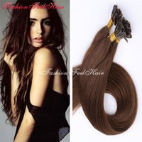 """Wholesale Nail Tip Indian Hairs - U   Nail Tip Hair Extensions Pre Bonded Keratin Glue Fusion Hair Extensions Indian Colorful Human Hair Pieces 18""""-28"""" 1g s"""