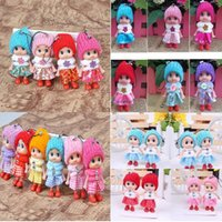 Wholesale Doll Phone Accessories - Wholesale -New Grid clown confused doll mobile phone's accessories creative gift phone pendant wholesale mobile phone accessories 2148