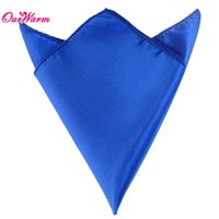 "Wholesale Napkins Royal Blue - 100PCS LOT Royal Cobalt Dark Blue Satin Table Dinner Napkin 12"" Square Handkerchief wedding decoration event party supplies"