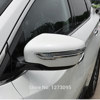 Wholesale Side Door Mirror Covers - For 2014 2015 Nissan X-Trail T32 X Trail XTrail Rogue Chrome Mirror Cover Trim Side Door Rear View Mirror Decoration Strip 2pcs