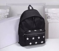 Wholesale Luxury School Bags - HOT SALE Famous Designer brand Stars Backpack women men High quality luxury Nylon + leather travel bag Fashion School bag