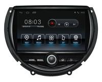 reproductor dvd mp4 para coche al por mayor-Android9.0 de cuatro núcleos pantalla de alta definición 1024 * 600 de DVD de navegación GPS para coche Mini Cooper 2014-2016 con 3G / Wifi DVR 1080P OBD