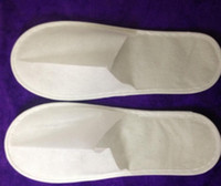 Wholesale One Time Slippers - factory Outlet! 50pairs one-time slippers disposable shoe home white sandals hotel babouche travel shoes free shipping 27*10.5cm