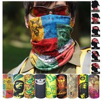 sombrero multifuncional al por mayor-Multifuncional Magic Skull Scarf Variedad Cálida Halloween Cosplay Bicicleta Cs Ski Headwear Half Face Bandana Party Mask 236 modelos