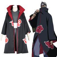 Wholesale Naruto Kakuzu Cosplay - X-2XL High Quality Handmade Naruto Kakuzu Cosplay Costume with Robe Headwear and Handband For Unisex Halloween Party Clothes