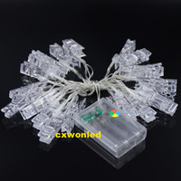 Wholesale box for wedding cards - 2M 20LEDs Clamp LED String Light with AAA Battery Box operated Flash Steady On Off Christmas Lights for Holiday Wedding Party Decoration