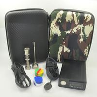 Wholesale Electric Vapors - Titanium Mini E Electric Dab Nail Box Kit With Titanium Nail Vapor Wax Dry Herb Electronic Temperature Controller Box fit Rig glass Bongs