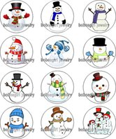 Glass spike christmas - christmas snowman glass Snap button Charm Popper for Snap Jewelry good quality Gl364 jewelry making DIY
