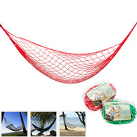 Wholesale Wholesale Roped Hammocks - High Quality Nylon Rope Mesh Hammock 5 Colors Portable Outdoor Garden Hammock Hang BED Travel Camping Swing Fauteuil Suspendu