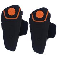 Wholesale Waterproof Bluetooth Motorcycle Helmet - 2 pcs Waterproof 100% Motorcycle Moto Wireless Bluetooth Helmet Intercom Interphone Headset with FM function BT-S2