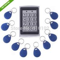 Wholesale Entry Metal Door Access Control - Wholesale-10Pcs Card Free +Metal Proximity RFID Card Door Entry Single Door Lock Waterproof Access Control System Keypad