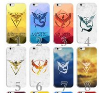 Wholesale Iphone Team Cases - Poke GO team Mystic Valor Instinct design cases Ultra Slim pocket monster camp logo Case cover For iPhone 4 4S 5 5S 6 6s 7 plus best